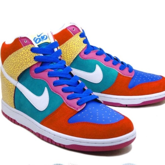 promo code 99ec2 acb02 Nike Dunk High 6.0 Multicolor Sneakers Retro. M 5ace8009077b97c7b974e712